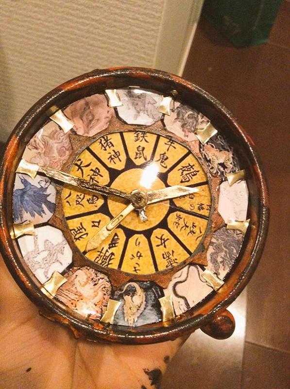 拾貮妖幻獣神獣図時計・改